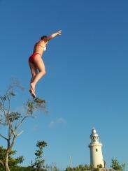 Rock jumping! (± 15 meter)